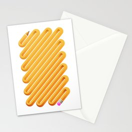 Curved Pencil Stationery Cards
