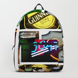 Happy Hour Neon Collage - Bar or Kitchen Decor Backpack