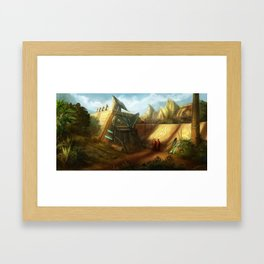 Jungle Shells Framed Art Print