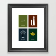 Lord of the Rings - Complete Minimalist Collection Framed Art Print