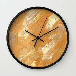 Lovely Gold Golden Acrylic Background Wall Clock