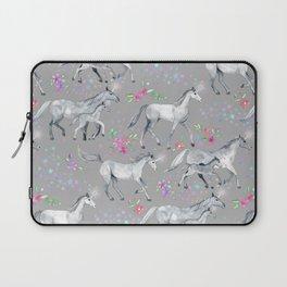 Unicorns and Stars on Soft Grey Laptop Sleeve