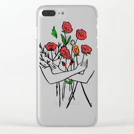 Armful of flowers Clear iPhone Case