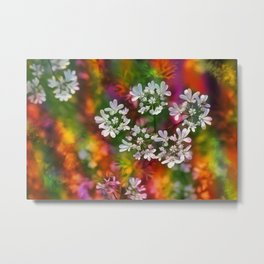 Floral Splash Metal Print