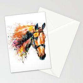 Colorful Horse Head Stationery Cards