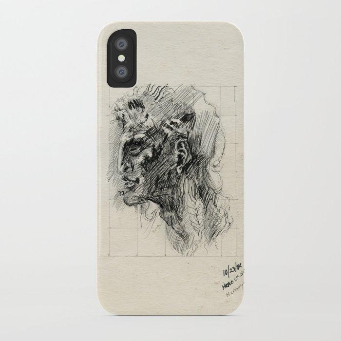 Head of satyr iPhone Case