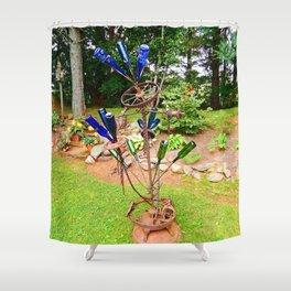 Glass and Steel Garden Art Shower Curtain