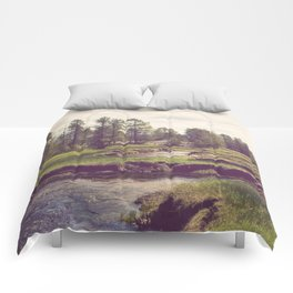 Down Time's Quaint Stream Comforters