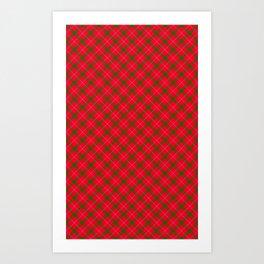 Holiday Plaid / Tartan Art Print