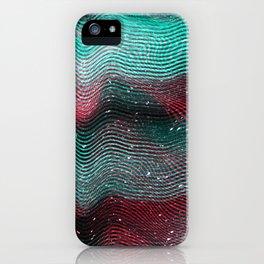 Glitch illustration background print iPhone Case