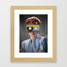 Ojos de casette Framed Art Print