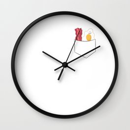 Egg And Bacon Breakfast Bacon And Eggs Wall Clock