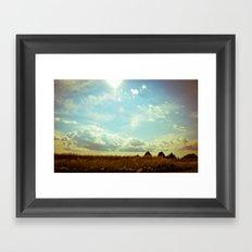 Shooting the Breeze Framed Art Print