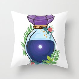 Universe Bottle Astronaut Or Spaceman Gift Throw Pillow