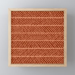 Herringbone Rust and Peach Framed Mini Art Print