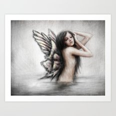Bathing Pixie Art Print
