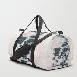 Glitch Skull Mono Duffle Bag