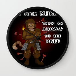 More than an arrow to the knee Wall Clock