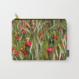 Red Poppies In A Cornfield Carry-All Pouch