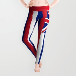 Hawaiian Flag, Official color & scale Leggings