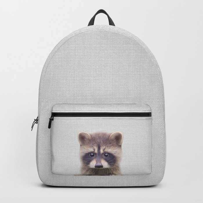 Raccoon - Colorful Rucksack
