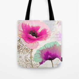 Poppies and Paint II Tote Bag