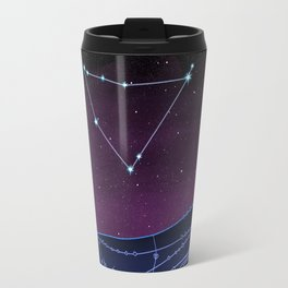 Capricorn Zodiac Constellation Design Travel Mug