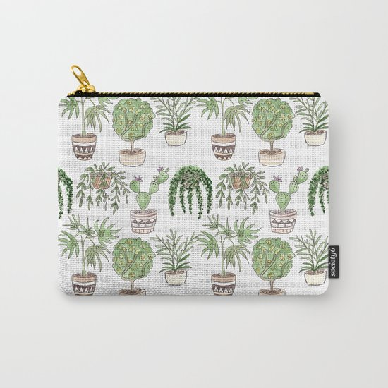 Watercolor . Plants . Carry-All Pouch