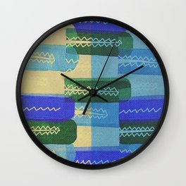 Crocodiles Rush Wall Clock