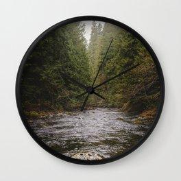 Salmon River II Wall Clock