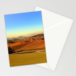 Picturesque panorama of countryside life | landscape photography Stationery Cards