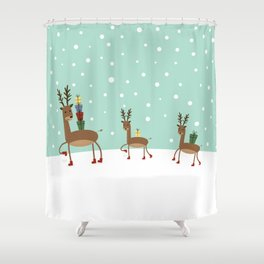 Christmas gifts from the reindeer #society6 #homedecor Shower Curtain