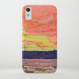 Tom Thomson - Sunset - Canada, Canadian Oil Painting - Group of Seven iPhone Case