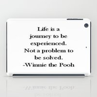 winnie the pooh iPad Cases featuring Winnie the Pooh Quote by Scarlett Alaska
