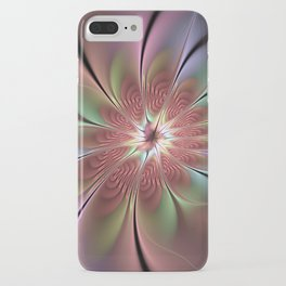 Abstract Fantasy Flower, Fractal Art iPhone Case