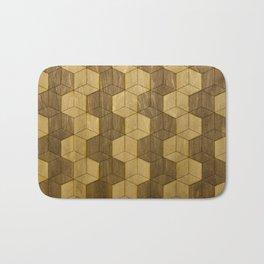 Wooden Zig Zag Optical Cubes Bath Mat