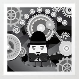 Charlot - Funny Cubes Series Art Print
