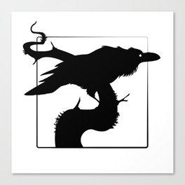 Raven Silhouette III Canvas Print