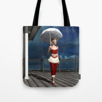 scandal Tote Bags featuring Victorian summer scandal by Britta Glodde