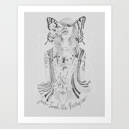 Touch Me Butterfly Art Print