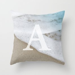 BEACH - A Throw Pillow