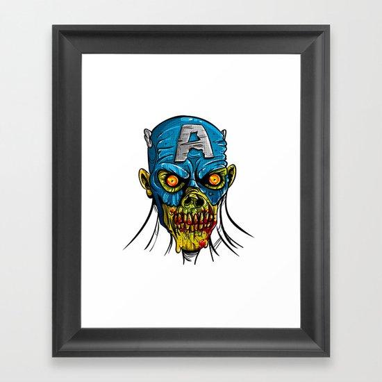 Zombie America Framed Art Print