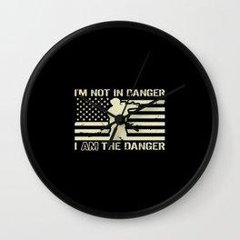I'm Not In Danger, I AM the Danger Wall Clock