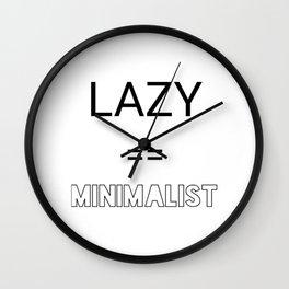Lazy == Minimalist Wall Clock