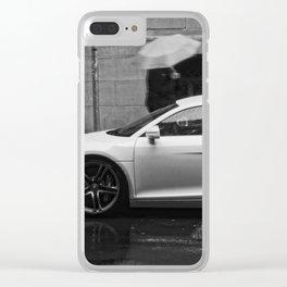 Fast in the Rain Clear iPhone Case