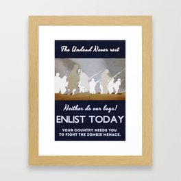 Anti Zombie poster from 1914. Framed Art Print