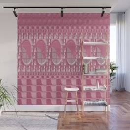 Rose Pink Geometric Abstract Wall Mural