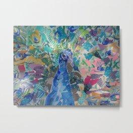 Kaleidoscope Peacock Metal Print