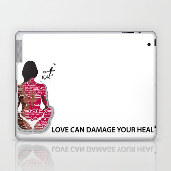Love can damage your health Laptop & iPad Skin