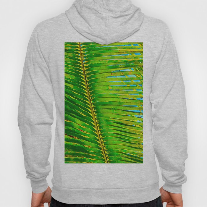 Coconut Frond in Green Aloha Hoody